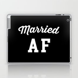 Married AF Funny Quote Laptop & iPad Skin