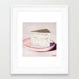 Funfetti Cake Framed Art Print