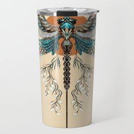 Dragonfly Tattoo Travel Mug