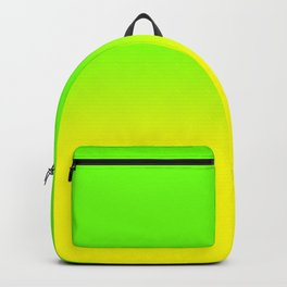 Neon Green and Neon Yellow Ombré  Shade Color Fade Rucksack