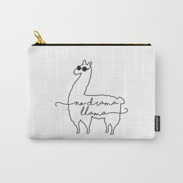 CHILL LLAMA NO DRAMA Carry-All Pouch