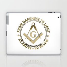 Freemasonry emblem Laptop & iPad Skin
