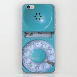 Aqua Hotline iPhone Skin
