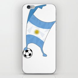 Argentina Flag Football Cup Soccer 2018 Dabbing World iPhone Skin