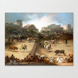Goya Bullfight in a Divided Ring Canvas Print