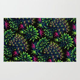 Cactus Floral - Bright Green/Pink Rug