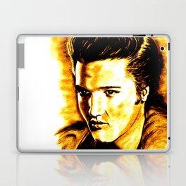 Elvis in Orange-Gold Laptop & iPad Skin