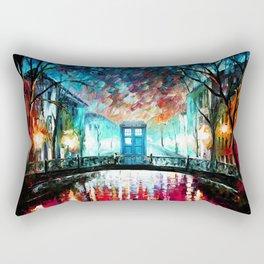 Tardis With Beautiful Starry Night Rectangular Pillow