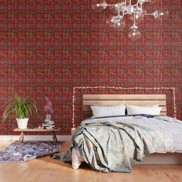 V5 Red Traditional Moroccan Design - A3 Wallpaper