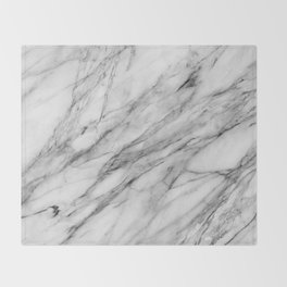 Carrara Marble Throw Blanket