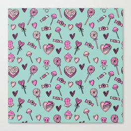 Valentines candy hearts chocolates love gifts for sweetheart Canvas Print