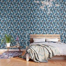 Lush Lily - chambray Wallpaper