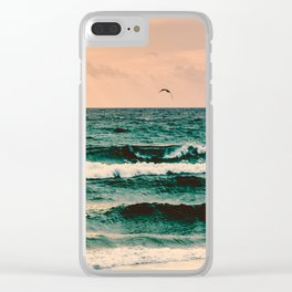 Escape to Paradise Clear iPhone Case