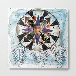 Dream Catcher Mandala Metal Print