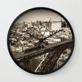 Porto sepia Wall Clock