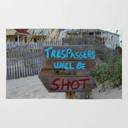 Funny Beach Sign Rug
