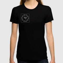 World crows. Crows in different framework, round, square. T-shirt