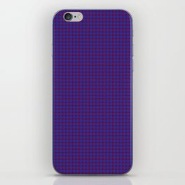 Burgundy and Navy Blue Polka Dot Pattern iPhone Skin