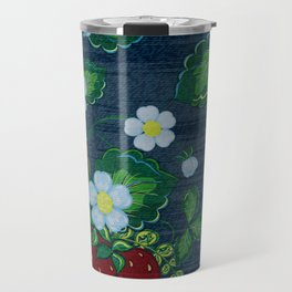 Strawberries and Daisies - Strawberry Patch  - Fruit Travel Mug