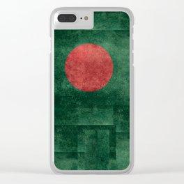 Flag of Bangladesh, Vintage Version Clear iPhone Case