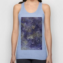 Writings in the Sky the Night Galaxy watercolor by CheyAnne Sexton Unisex Tank Top