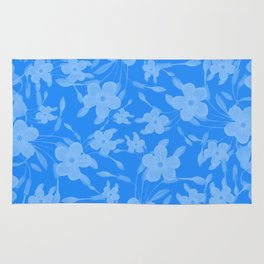 Forget-Me-Not Flowers in Blue Rug