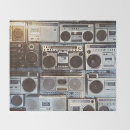 Boom boxes Throw Blanket