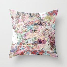 Chula Vista map Throw Pillow