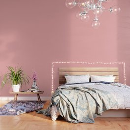 Classic Lush Blush Pink Solid Satin Color Wallpaper
