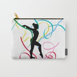 Ribbon dancer on white Carry-All Pouch