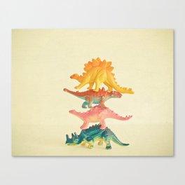 Dinosaur Antics Canvas Print