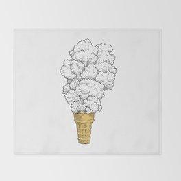 Volcano ice cream Throw Blanket