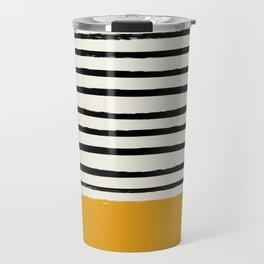 Fall Pumpkin x Stripes Travel Mug