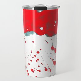 Red Red Clouds Travel Mug