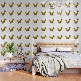 Chicken - Hen - Line Art - 57 Montgomery Ave Wallpaper