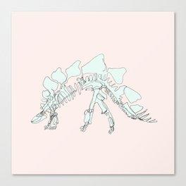 Pastel Stegasaurus Canvas Print