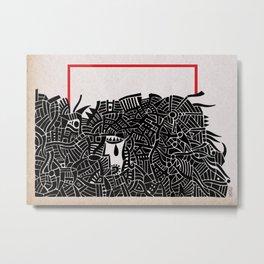 - migrants - Metal Print