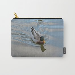 Mallard duck swimming in a turquoise lake 1 Carry-All Pouch