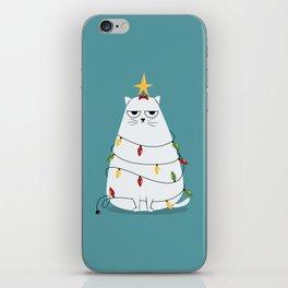 Grumpy Christmas Cat iPhone Skin
