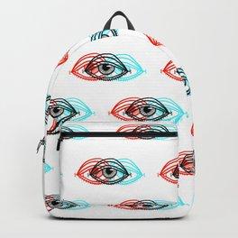 3D Eye Pattern Backpack