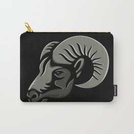 Bighorn Sheep Metallic Icon Carry-All Pouch