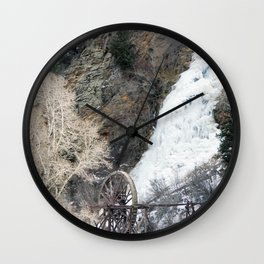 Frozen Water Wheel Wall Clock