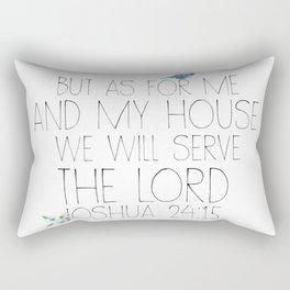 joshua 24:15 Rectangular Pillow