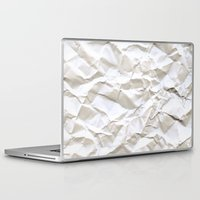 apple Laptop & iPad Skins featuring White Trash by pixel404