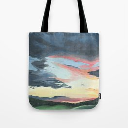 Sunset over Yellowstone Tote Bag