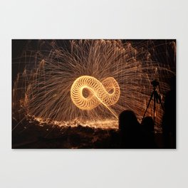 Infinite Fire Spin Canvas Print