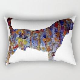 Beagle Oil Painting Rectangular Pillow