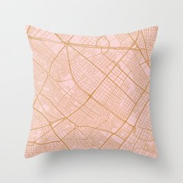Bogota map Throw Pillow