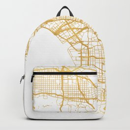 LOS ANGELES CALIFORNIA CITY STREET MAP ART Backpack