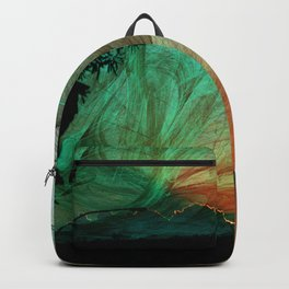 Sunset stormy skies Backpack